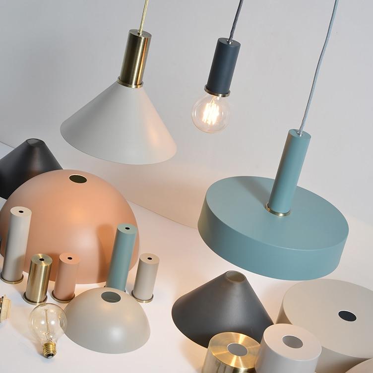 Modern nordic minimalist pendant light creative flashlight lron LED hanging light dinner room cafe room bar lamp indoor lights in Pendant Lights from Lights Lighting
