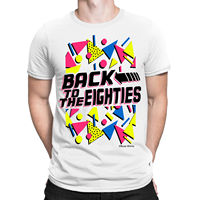 Back To The EIGHTIES Mens T Shirt FANCY DRESS 80 S Party Weekend STAG Costume Summer