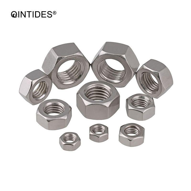 QINTIDES M1 - M10 hexagon nuts with metric screw threads 304 stainless steel hex nuts M1.6 M2 M2.5 M3 M3.5 M4 M5 M6 M8 M10 nut gb879 m1 5 m2 m2 5 m3 m4 m5 m6 m8 stainless steel positioning spring elastic cylindrical cotter pin dowel tension roll pin