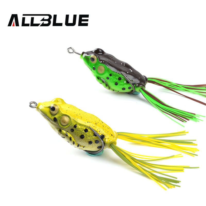 Allblue high quality kopper kopper live target frog lure for Fishing lure with camera