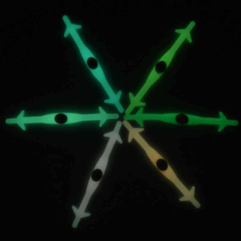12 adet/grup Silika Jel Işık Ayakkabı Bağcıkları Köpekbalığı Floresan Aydınlatma Spor Çok Boyutu Geri Çekilebilir Noctilucent Elastik Ayakabı