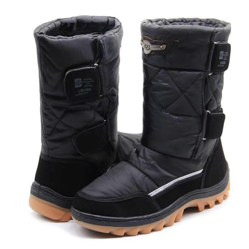 LIBANG зимние ботинки мужские; мужские теплые ботинки; зима обувь мужская; мужская зимняя обувь; обувь мужская сапоги; ботинки мужские зимние; мужские зимние обувь; водонепроницаемые сапоги; ботинки зимнии мужские