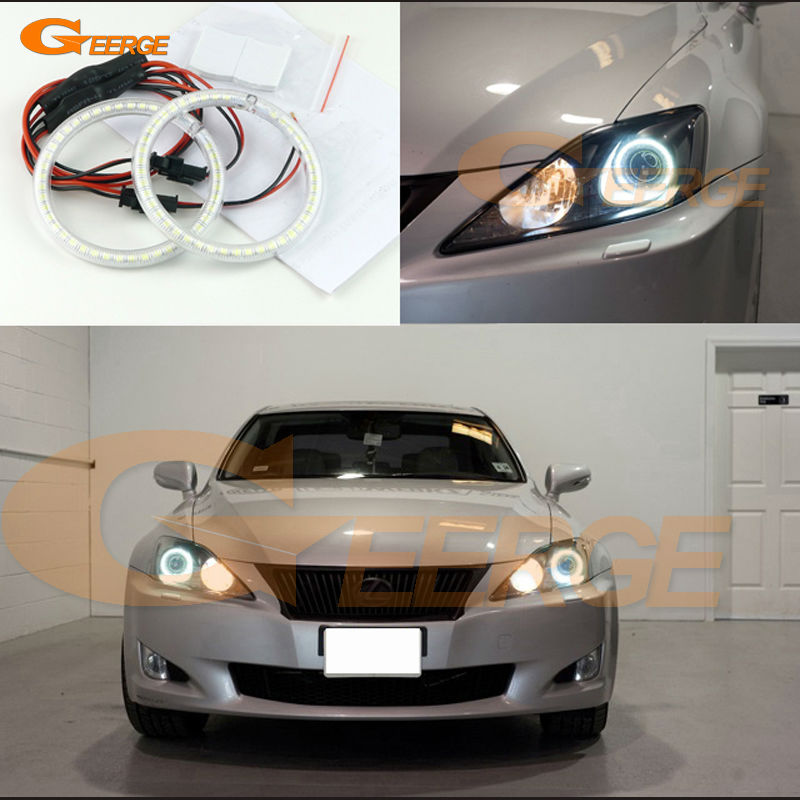 For Lexus IS220 IS250 IS350 IS-F 2006-2010 Excellent led Angel Eyes Ultra bright illumination smd led Angel Eyes Halo Ring kit женская куртка every girl is an angel xz123