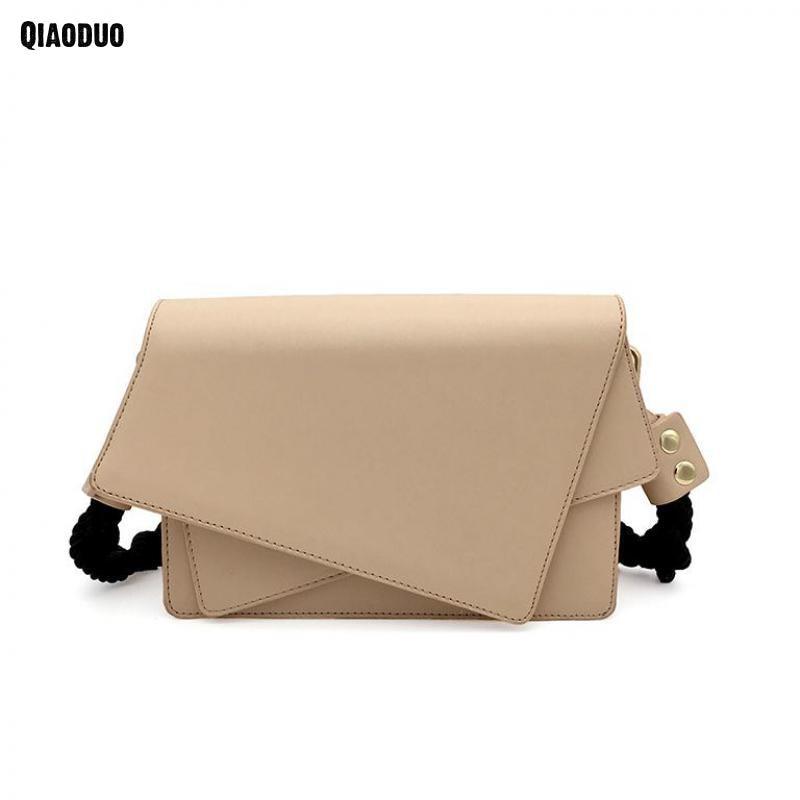 Hot Women Bag 2 Straps Elegant Female Handbag Fashion Woven Shoulder Strap Handbag Women Soft Pu Leather Women Messenger Bags