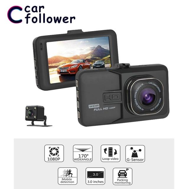 Full HD 1080P Car DVR 3.0 Inch IPS Screen Car Camera Dual Lens Dash Cam Digital Video Recorder Night Vision G-sensor Registrator