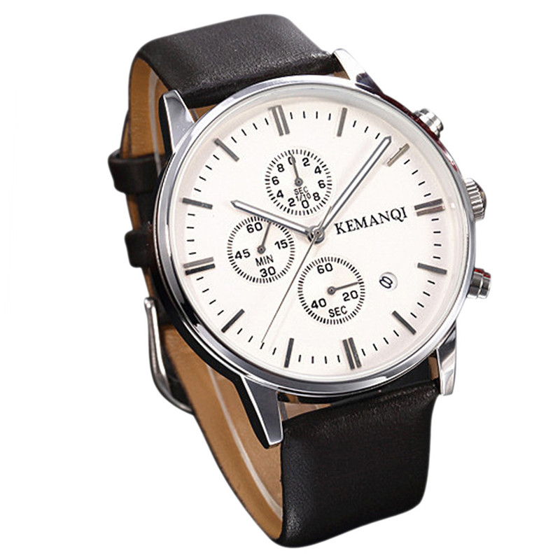 CLAUDIA new Business Quartz watch Men Dress Watches Leather Strap wristwatch Auto Date Display Dials reloj hombre orologio uomo new watch men auto date business fashion quartz men watch top brand wristwatch male reloj hombre orologio uomo relogio masculino