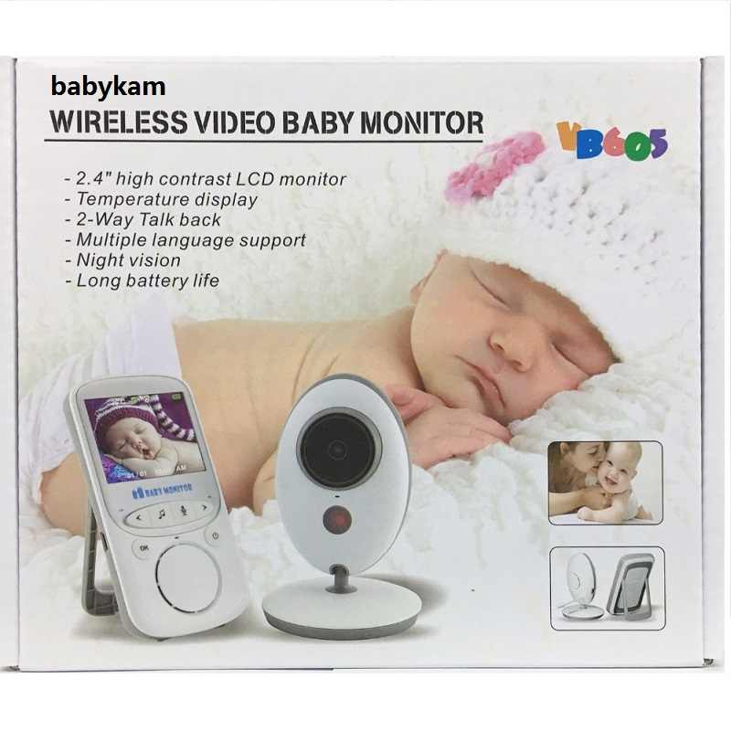 Радионяня vb605 camara para bebe 2,4 дюймов TFT lcd видеоняня ИК ночного видения видеодомофон монитор температуры 8 колыбельных