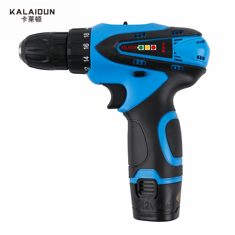 KALAIDUN 12V Mobile Electric Drill Power Tools Electric Screwdriver Lithium Battery Cordless Drill Mini Drill Hand