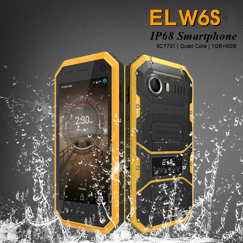 El 8GB 1GB GSM/WCDMA Bluetooth Quad Core 5MP New Mobile-Phone Shockproof IP68 Android-7.0