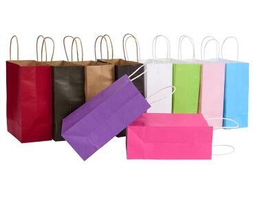 Custom Clothing Bag Gift Cosmetics Portable Paper Shopping Bag Packaging Paper Bag Printed LOGO