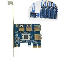 4 Slots PCI-E 1 um 4 PCI Express 16X Slot externe Riser-karten-adapter Bord PCIE Multiplier Karte für BTC Miner