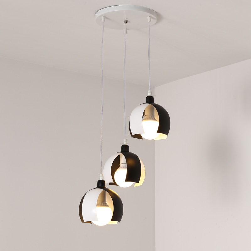 Dinning Room Kitchen Hanging Lamp Modern Pendant Light E27 Led bulb Gift Back White Iron Decor Home Lighting Fixtures 110-240V 4pcs led light bulb 4w smd 48led energy saving lights lamp bulb home kitchen under cabinet lighting pure warm white 110 240v