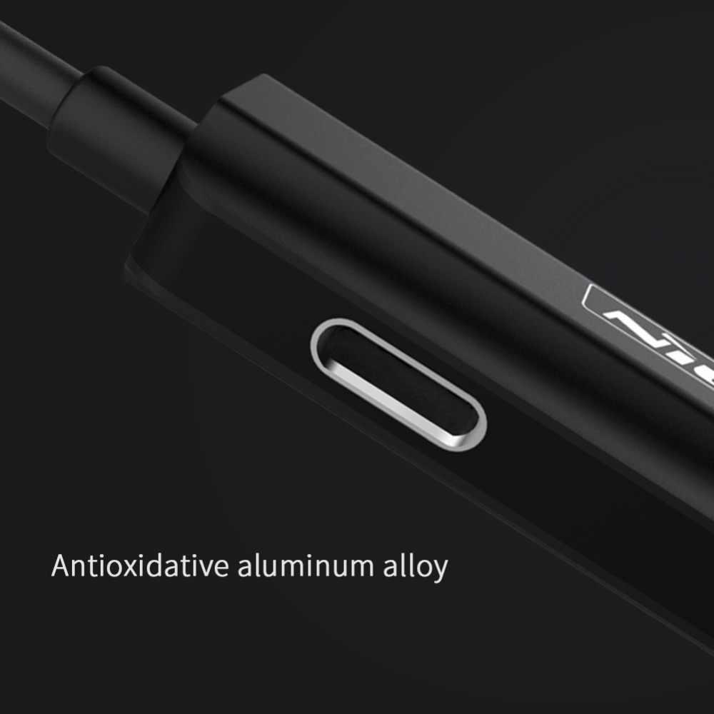 Kabel Adaptor untuk iPhone X XS Max XR 7 8 PLUS NILLKIN 3.5 Mm Earphone Audio Kabel Pengisian Kabel Aux 2-In-1 Adaptor untuk Petir