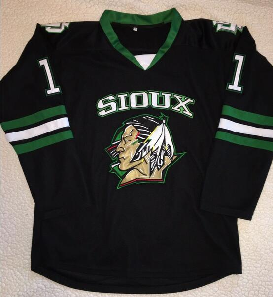 huge discount d2176 44a88 US $42.49 15% OFF|Rare Vintage Zach Parise North Dakota Fighting Sioux  Hockey Jersey Embroidery Stitched Customize any number and name Jerseys-in  ...