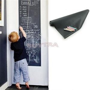 45x200cm Chalk Board Blackboard Sticker Removable Vinyl Draw Decor Mural Decals Art Chalkboard For Kids With 5 Free Chalks