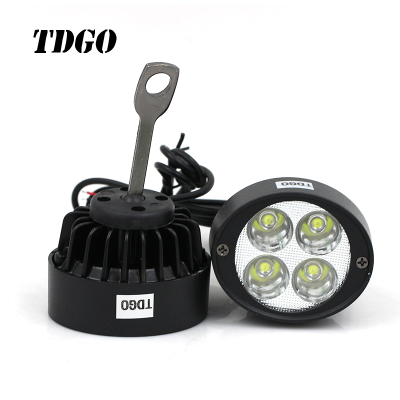 цена на TDGO 2pcs Led Motorcycle Headlight Bulbs Led 12-85V Lamp Scooter Moto Accessories Fog Lights Assist Lamp Rearview Mirror Light