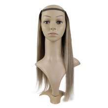 Full Shine Clip in One Piece U Part Wig Extensions Color #3/8/22 100% Machine Remy Straight Hair Extensions Half Wig