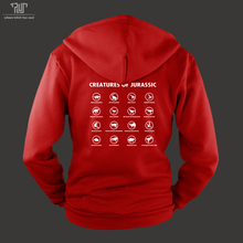 creatures of Jurassic World dinosaur name men unisex pullover hoodie heavy hooded sweatershirt cotton with fleece inside