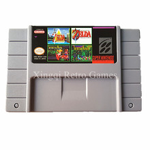 Super Nintendo SFC/SNES MS04 4 в 1 Видеоигры Картридж Консоли Карта США Версия Английского Языка Коллекция