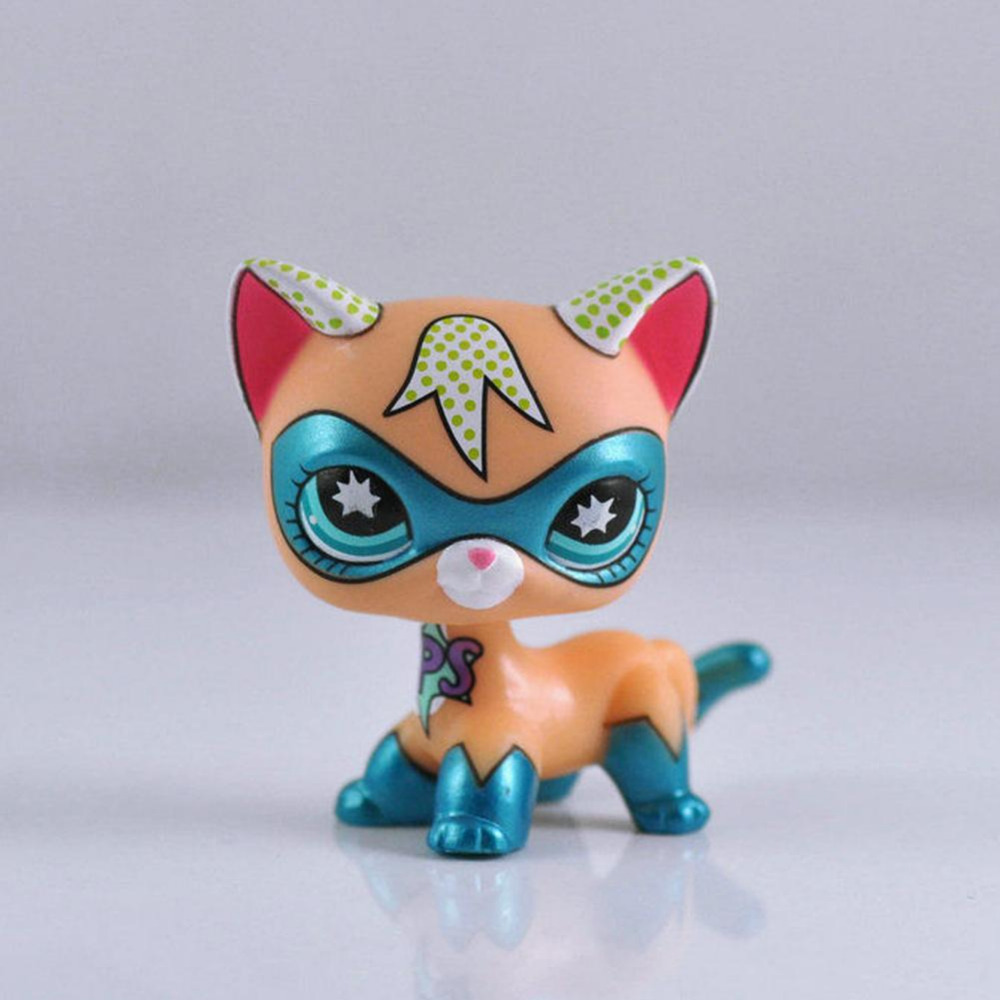Rare COMIC CON CAT Super Collection kids Child baby Toy LPS lps lps toy bag 20pcs pet shop animals cats kids children action figures pvc lps toy birthday gift 4 5cm