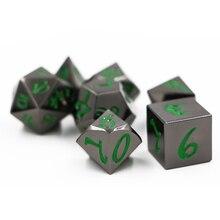 Dungeon & Dungeon 7pcs/sets Creative RPG Dice D&D Metal Tweezers Black Nickel Green Digital D4 D6 D8 D10 D12 D20