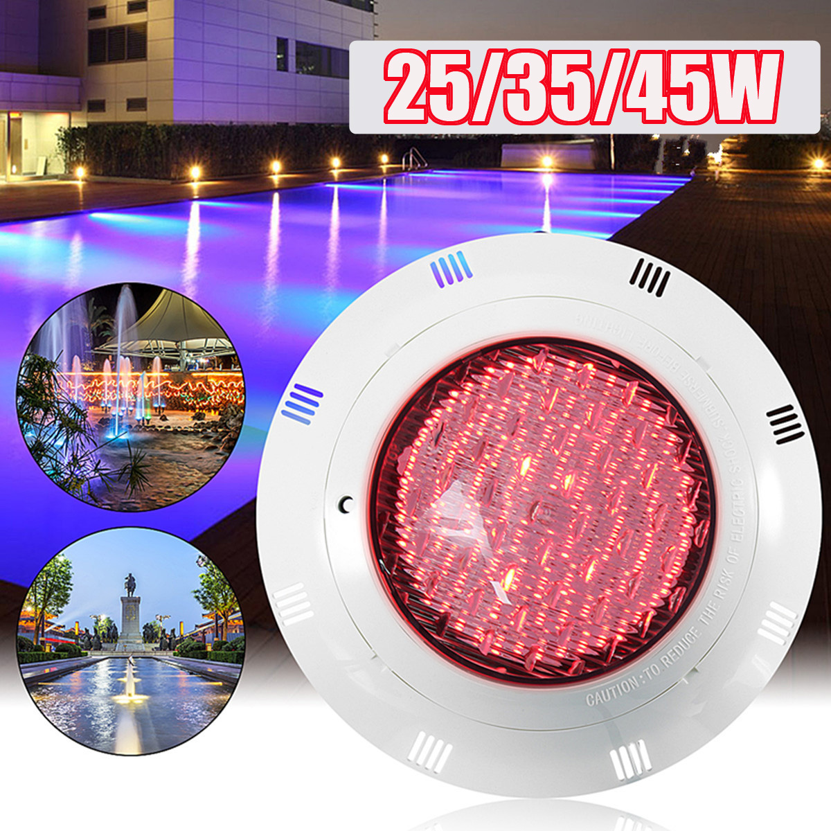 Learned Ac 12v 25/35/45w Rgb Led Swimming Pool Underrwater Led Light 7 Color Wall Mounted Pond Lighting Remote Control Lights & Lighting