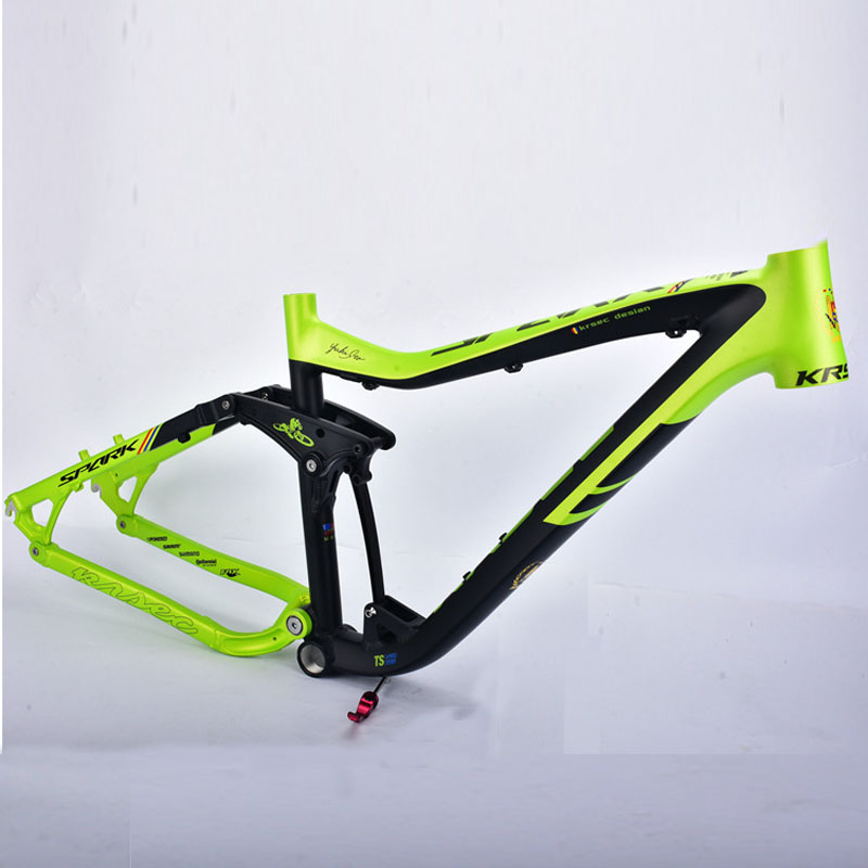 KRSEC Aluminum Alloy Moutain Bicycle Frame MTB  Bike Frame 26/ 27.5 *16 Tapered Tube AM Tail Hook Colorful GREEN szblaze 6061 aluminum alloy tube clap long track ice speedskating blades frames 60hrc dislocation skate shoes knife 1 1mm frame