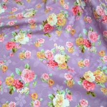 160CM Width Purple Floral Cotton Fabric Rose Printed Sewing fabric tecido de algodao patchwork