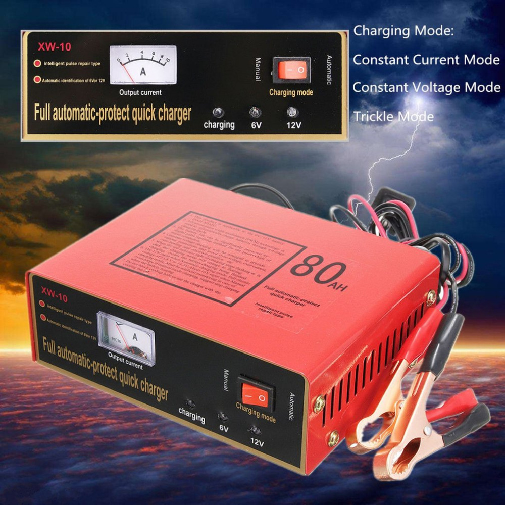 Automatic Car Battery Charger Intelligent 6V/12V Full Automatic Electric Car Battery Charger For Lead Acid Battery US Plug