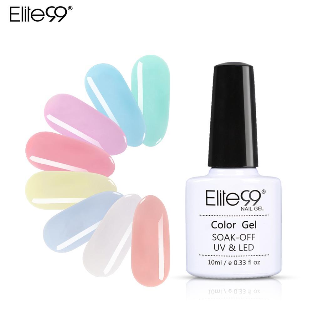Гель-лак для ногтей Elite99 10 мл, полупрозрачный розовый Гель-лак для ногтей, отмачиваемый УФ-гель для дизайна ногтей, лак для ногтей