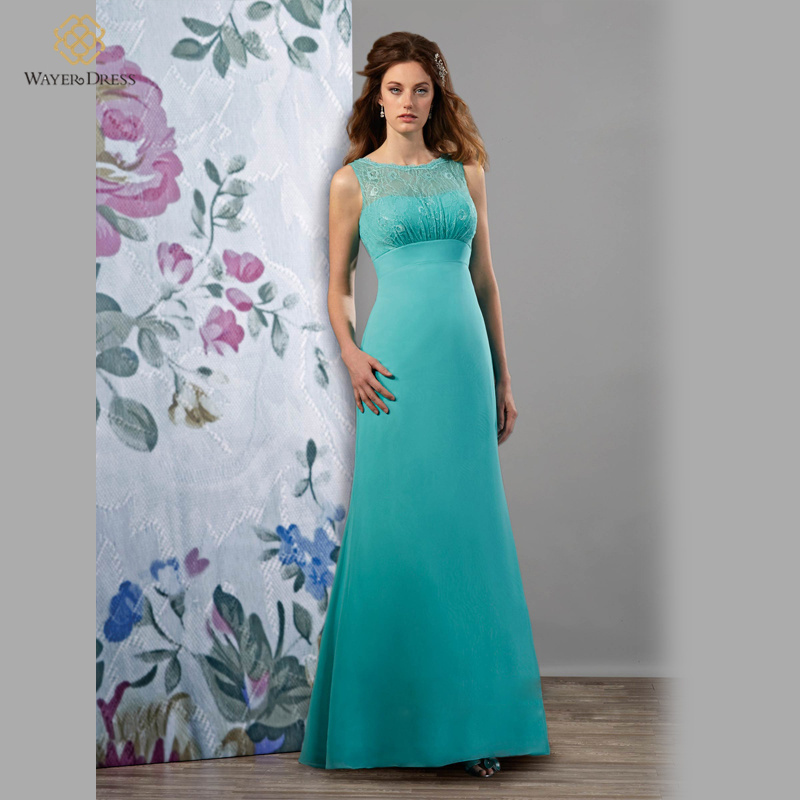 Turquoise Lace and Tulle Bridesmaid Dress