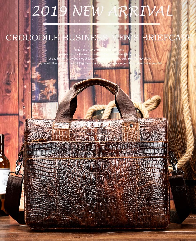 HTB1JQPsXlGw3KVjSZFwq6zQ2FXaR MVA Male briefcase/Bag men's genuine leather bag for men leather laptop bags office bags for men Crocodile Pattern handbag 5555
