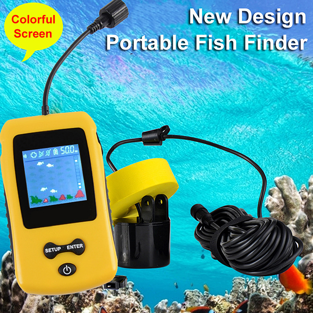 7.5M Cable 100M Portable Sonar LCD Fish Finders Fishing Lure Echo Sounder Powered By 4AAA Batteries (not Included)7.5M Cable 100M Portable Sonar LCD Fish Finders Fishing Lure Echo Sounder Powered By 4AAA Batteries (not Included)
