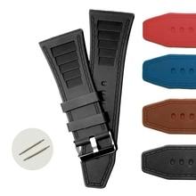 34 мм черные силиконовые желе резиновые мужские унисекс часы ремешок WB1046A34JB
