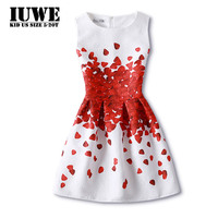 Girls Summer Dress 2016 Kids Dresses For Girls Of 12 Years Sleeveless Printed Big Size Princess