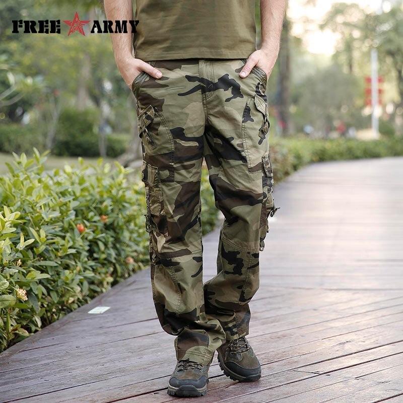 Brand Large Size Autumn Camouflage Men Military Trousers Multi-Pocket Cotton Men Pants Casual Military Cargo Pants Male Mk-728B
