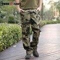 Marca de Gran Tamaño Otoño de Camuflaje Hombres Pantalones Militares de Algodón Hombres Pantalones Casuales Pantalones Militares de Carga Masculina Mk-728B