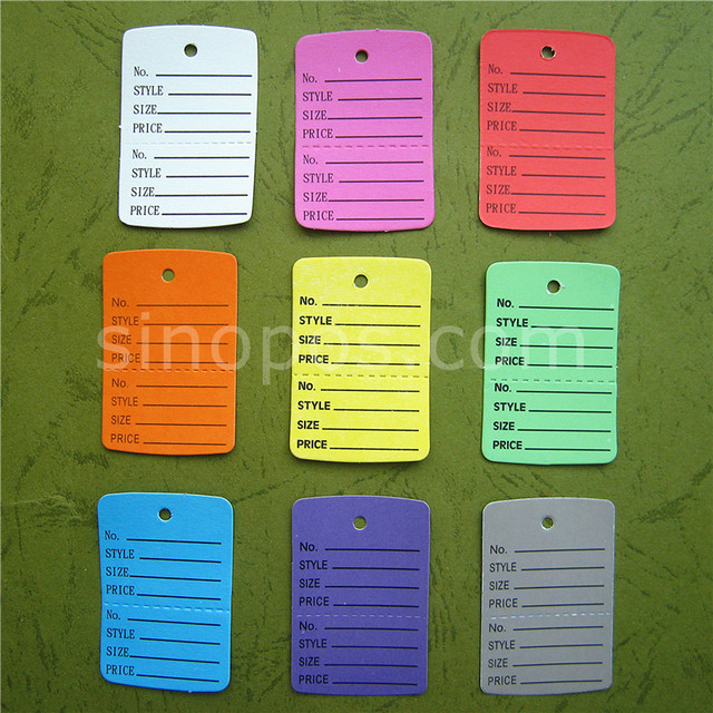 Online Shop Small Perforated Coupon Price Tags Colorful, consignment