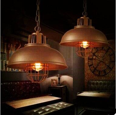 2pcs American Loft Style Industrial Lamp Lampe Vintage Pendant Light