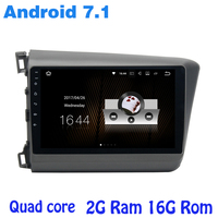Android 7 1 Quad Core Car Radio Gps Player For Honda Civic 2012 2014 With 2G