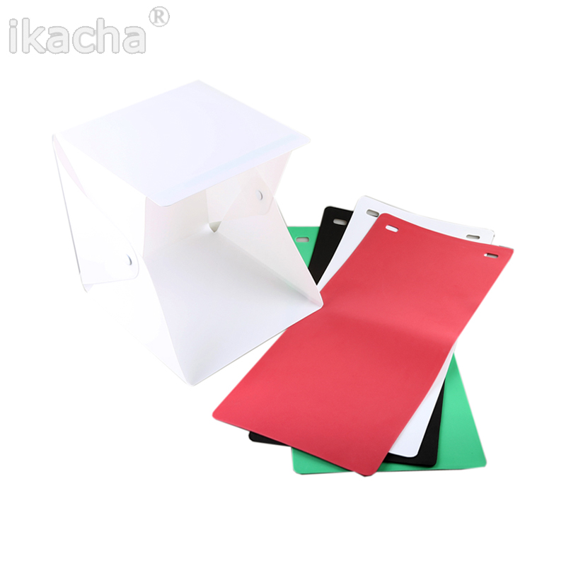 4 Color Portable Mini Photo Studio Mini Foldable Softbox Photography Studio With USB LED Light High Lighting Desktop