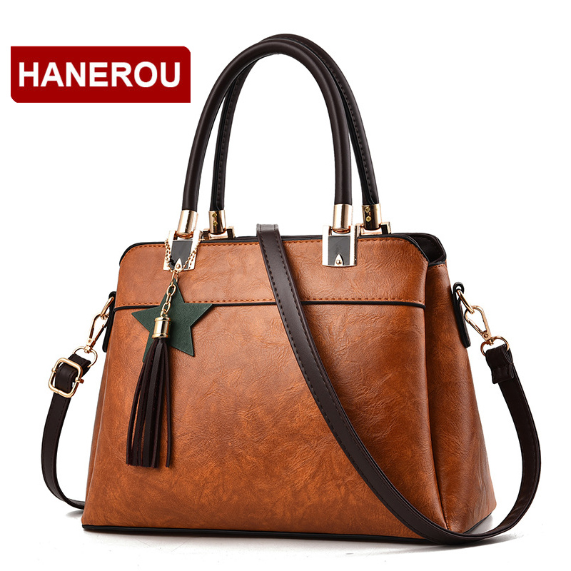 Women Leather Handbag Women Crossbody Bag Female Shoulder Bag Women Vintage Scrub Leather Handbag sac a main Ladies  Hand Bags