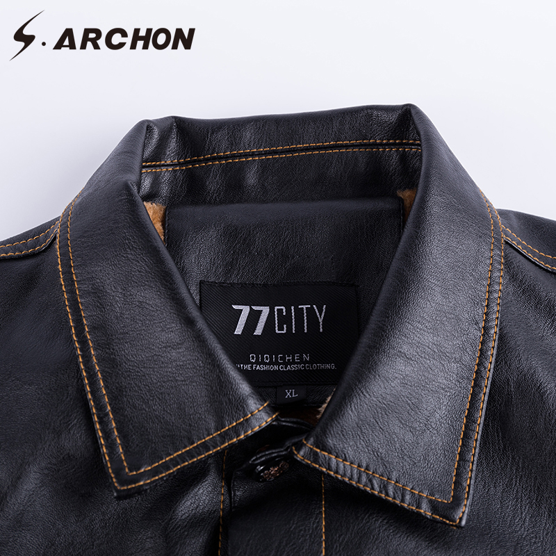 226d76fd4 US $50.16 37% OFF|S.ARCHON Winter PU Leather Military Pilot Jackets Men  Casual Tactical Fleece Bomber Jacket Windbreaker Clothes Motorcycle  Jacket-in ...