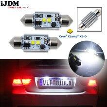 1Pcs High Power Xenon Wit 10W 2 Cre'e XB-D Geen Polariteit Canbus C5w 36Mm Festoen Led Licht lampen, auto Interieur Dome Lamp 12V