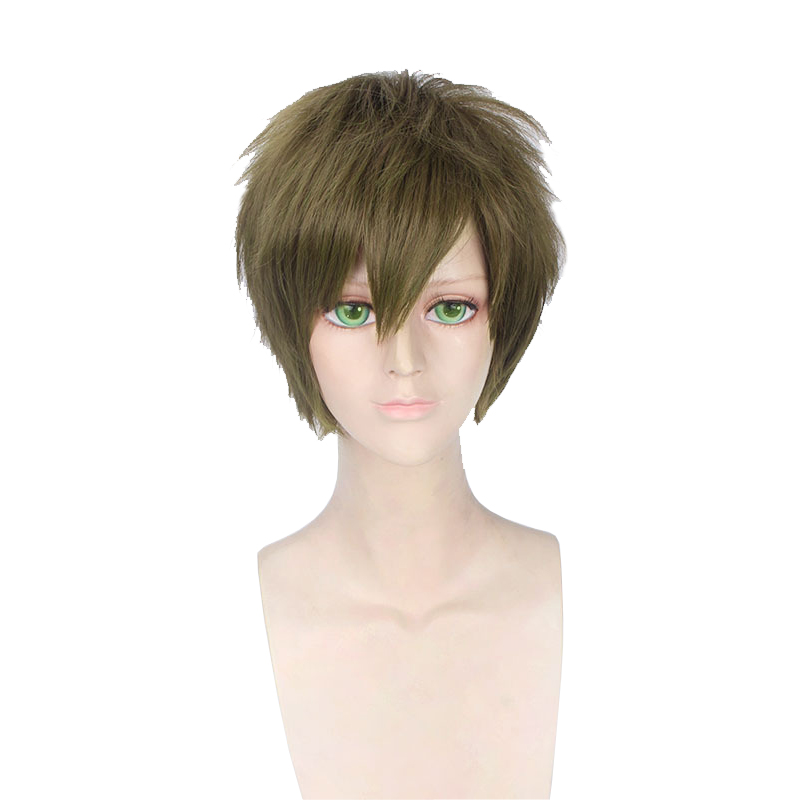 Anime Free! Makoto Tachibana Wig Cosplay Costume Short Heat Resistant Synthetic Hair Halloween Party Wigs