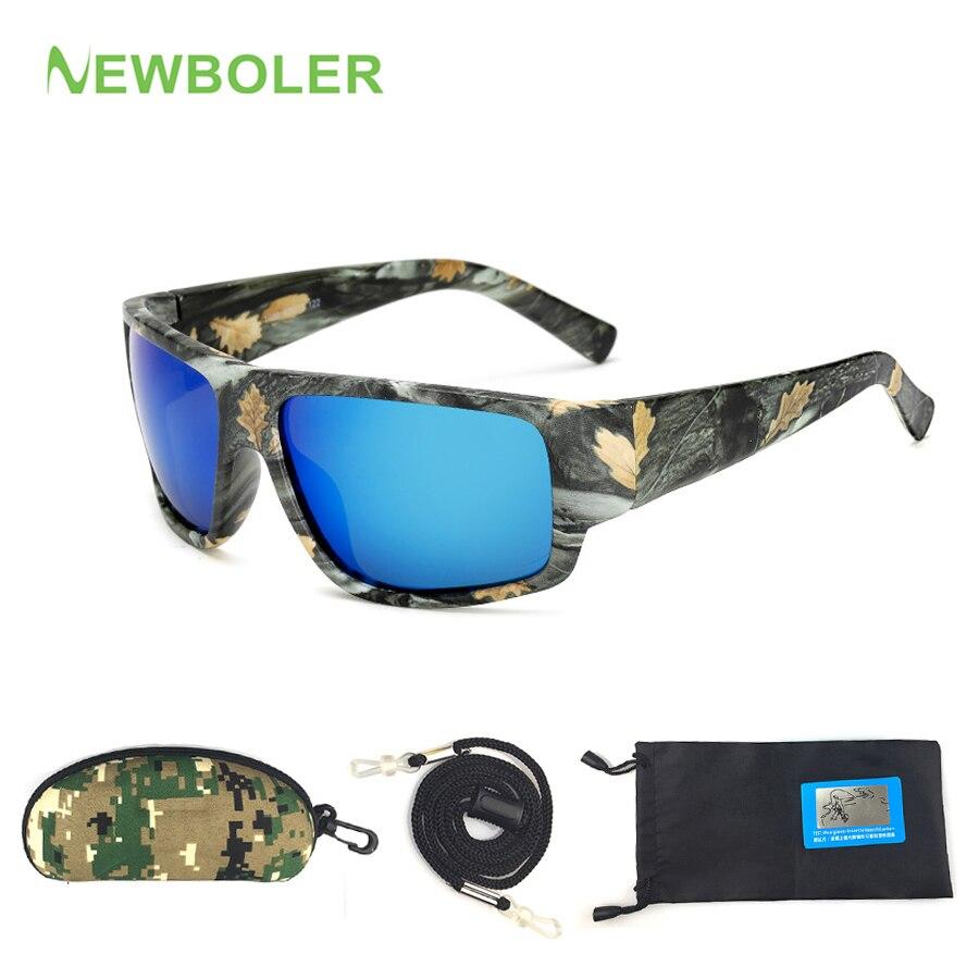 NEWBOLER очки для рыбалки камуфляжные HD ночного видения Поляризованные для вождения уличные спортивные солнцезащитные очки для мужчин и женщи...