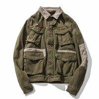 Осень 2017 г. Новая мода Для мужчин самосовершенствование шить просто японский досуг оригинальный Дизайн ретро куртка Для мужчин