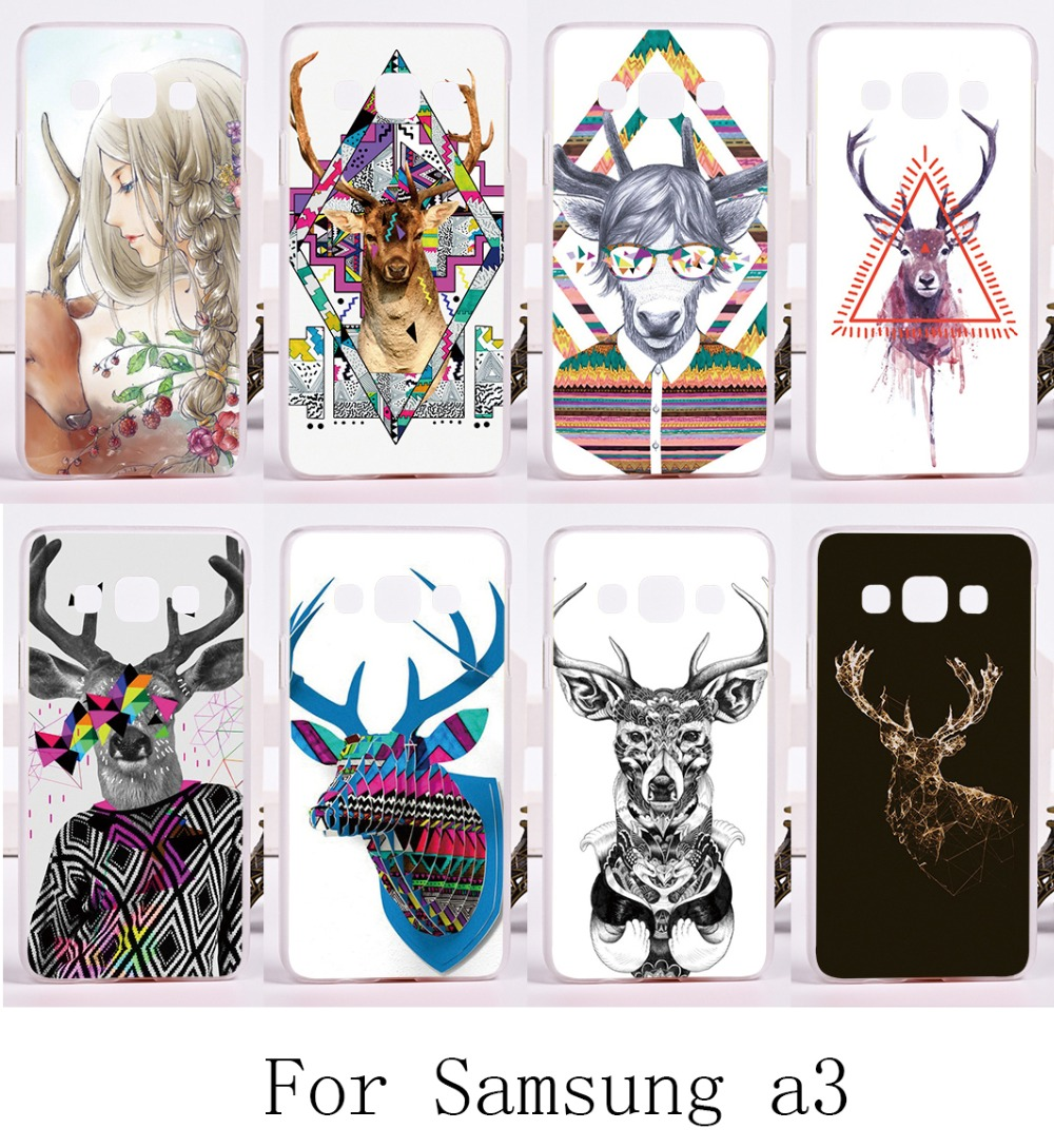 Mr Deer Series Phone Skin For Samsung Galaxy A3 2014 A3000 A300F Cases Cool Style Durable