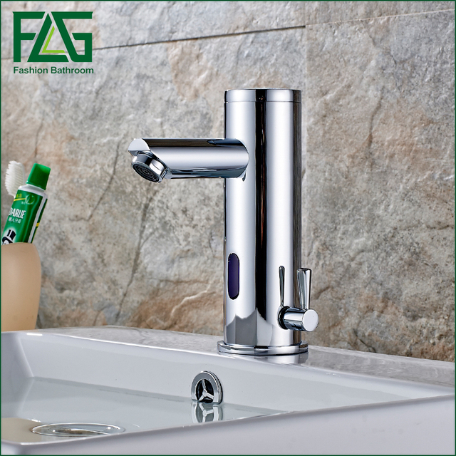Merveilleux FLG Bath Basin Faucet Hot Cold Water Taps Automatic Hands Touch Infrared  Sensor Faucet Bathroom Sink
