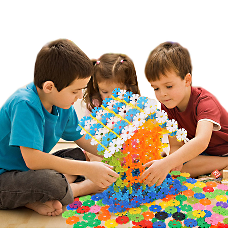With-Instructions-150Pcs-3D-Puzzle-Plastic-Snowflake-Building-Blocks-Educational-Toys-for-Children-Beautifully-Packaged-4